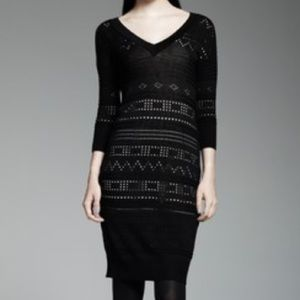 Catherine Malandrino Pointelle Sweaterdress Set